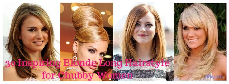 30 Inspiring Blonde Long Hairstyle for Chubby Women