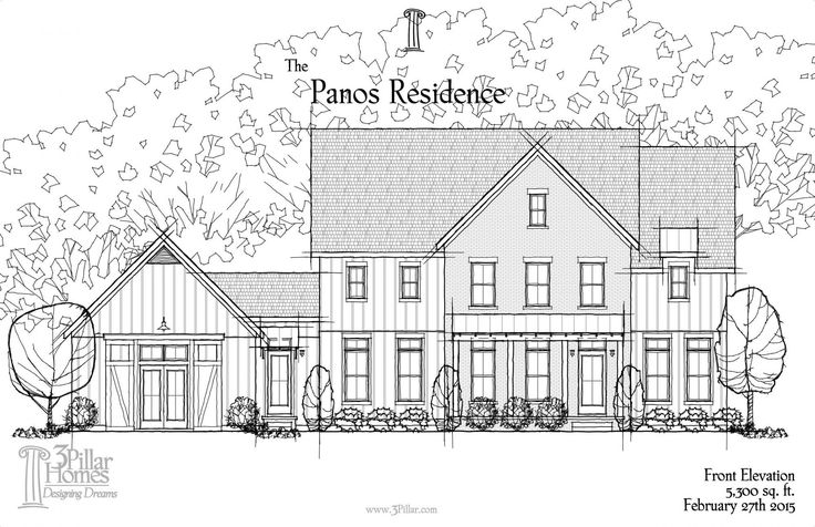 The Panos Residence | Floor Plans | 3 Pillar Homes