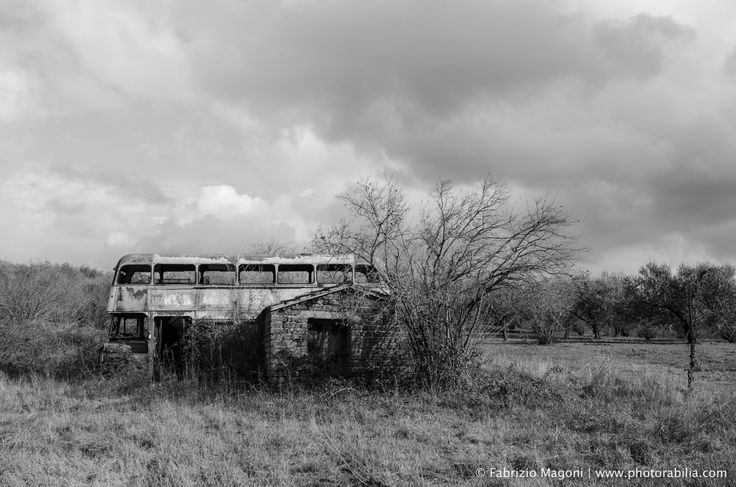 In the middle of nowhere #bus #countryside #lazio #london #doubledecker #photography #street #nikon #picture