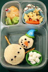 Winter theme kids school lunch