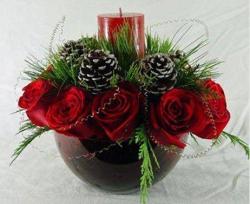 Centrotavola natalizi con le pigne www.donnaclick.it - Donnaclick