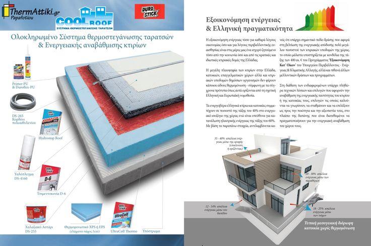 COOL ROOF by Durostick / Συστήμα Θερμοστεγάνωσης Οροφής κτηρίων