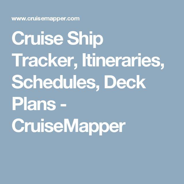 Cruise Ship Tracker, Itineraries, Schedules, Deck Plans - CruiseMapper
