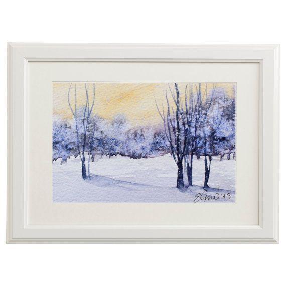 Frameable Original Handpainted Watercolor by UNIQUEPOSTCARDS