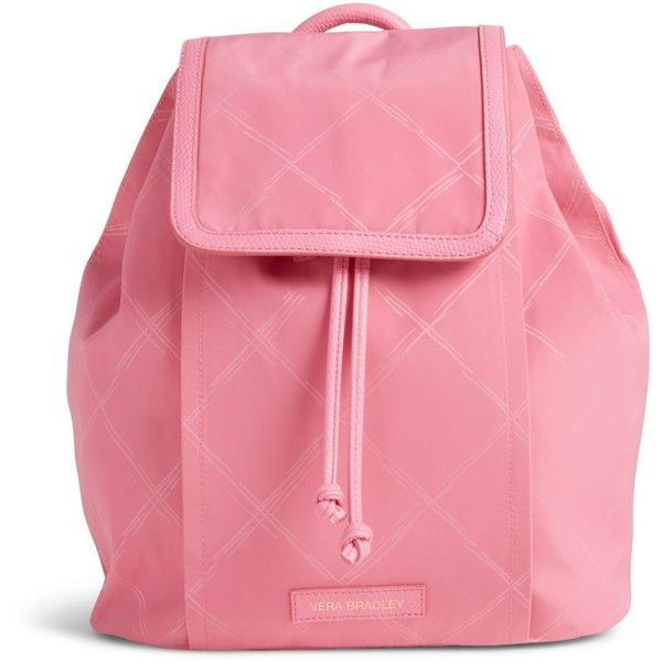 Vera Bradley Preppy Poly Backpack in Blossom Pink ($98) ❤ liked on Polyvore featuring bags, backpacks, accessories, bolsas, purses, blossom pink, draw string backpack, draw string bag, drawstring backpack bags and backpacks bags