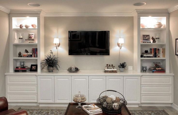Looking for ideas to build your own entertainment center that suits your tastes and the space in your living room. Get inspired free DIY entertainment…