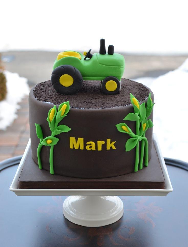 Картинки про торт с трактором