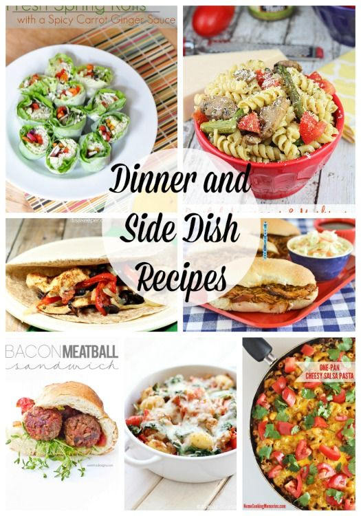 20 NEW dinner and side dish ideas -yum!