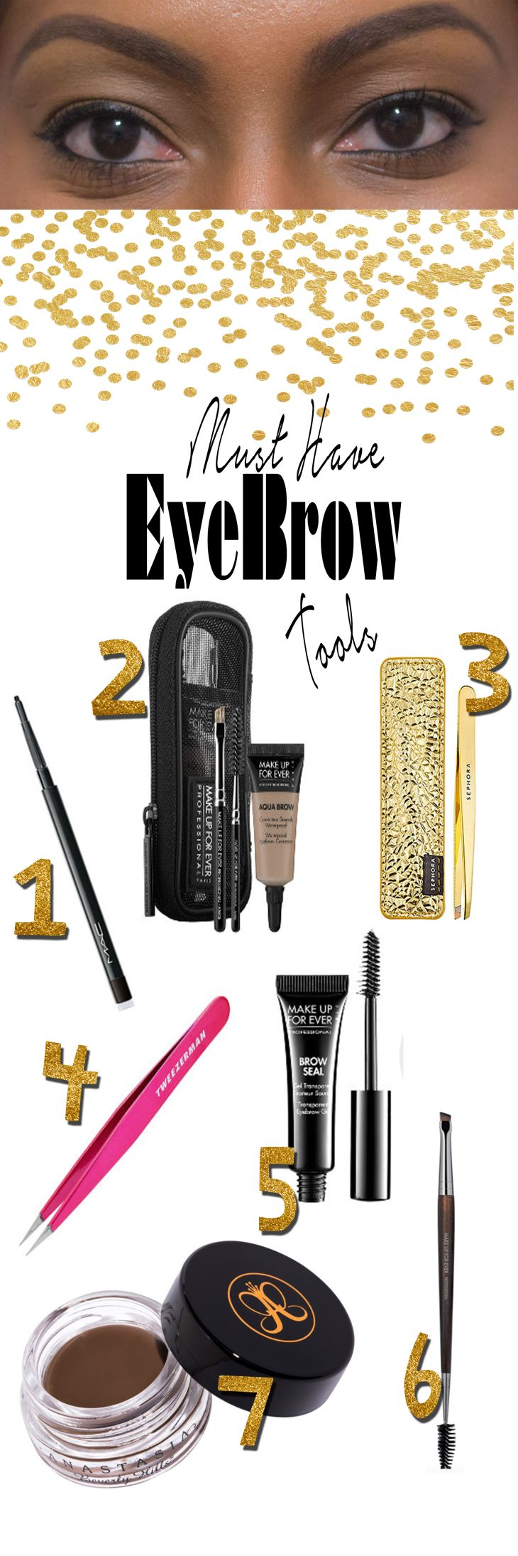 www.beingmelody.com | Top Ten Tuesday: Must Have Eyebrow Tools. |Eyebrows are an important part of your face. Check out which tools I'm using to sculpt, shape and fill my eyebrows.http://www.beingmelody.com