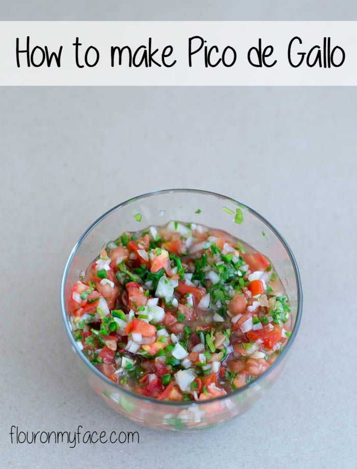 Make this Pico de Gallo Recipe, an authentic Mexican salsa recipe and serve it alongside any Mexican dish. Forget about buying a jar at the store!