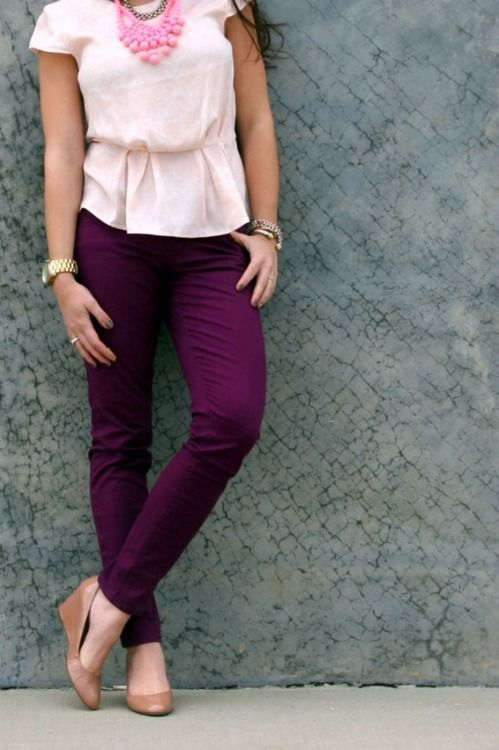 Styling plum pants...so in love with the color of it