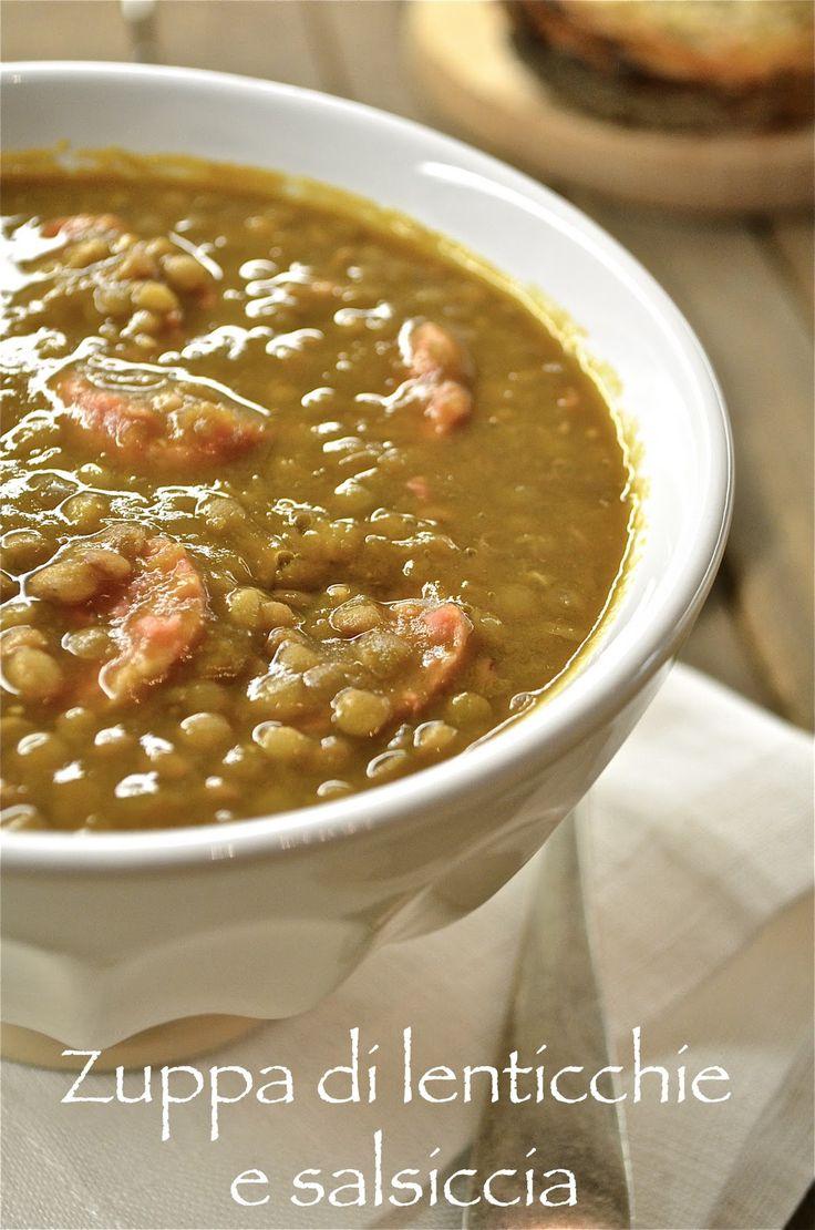 Intermezzi salati: Zuppa di lenticchie e salsiccia
