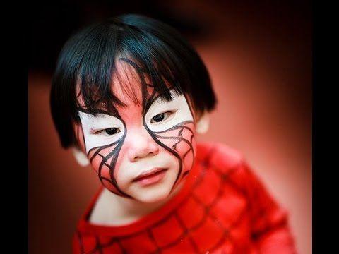 Trucco viso bambino da uomo ragno facile - VideoTrucco