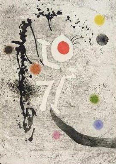 "Salvat Papasseit: Les Formigues, by Joan Miro, 1974. Etching, 35.433 x 25.1968"" (90 x 64 cm)"
