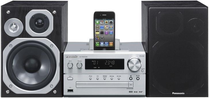 Panasonic PMX5 - Nouvelle micro-chaîne HiFi avec dock iPod/iPhone intégré et port USB