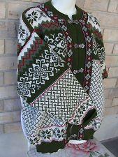 Nordstrikk Wool Jacket Cardigan Ski Sweater Green Nordic Sz L Norway MINT Used 1