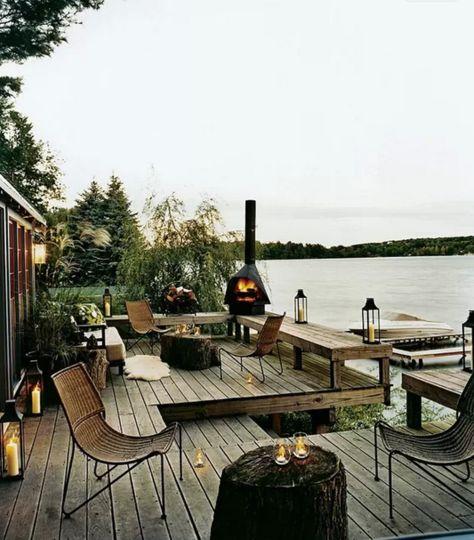 Près de New York : la terrasse d'une cabane chic en bord de lac - Insolentes terrasses design - CôtéMaison.fr