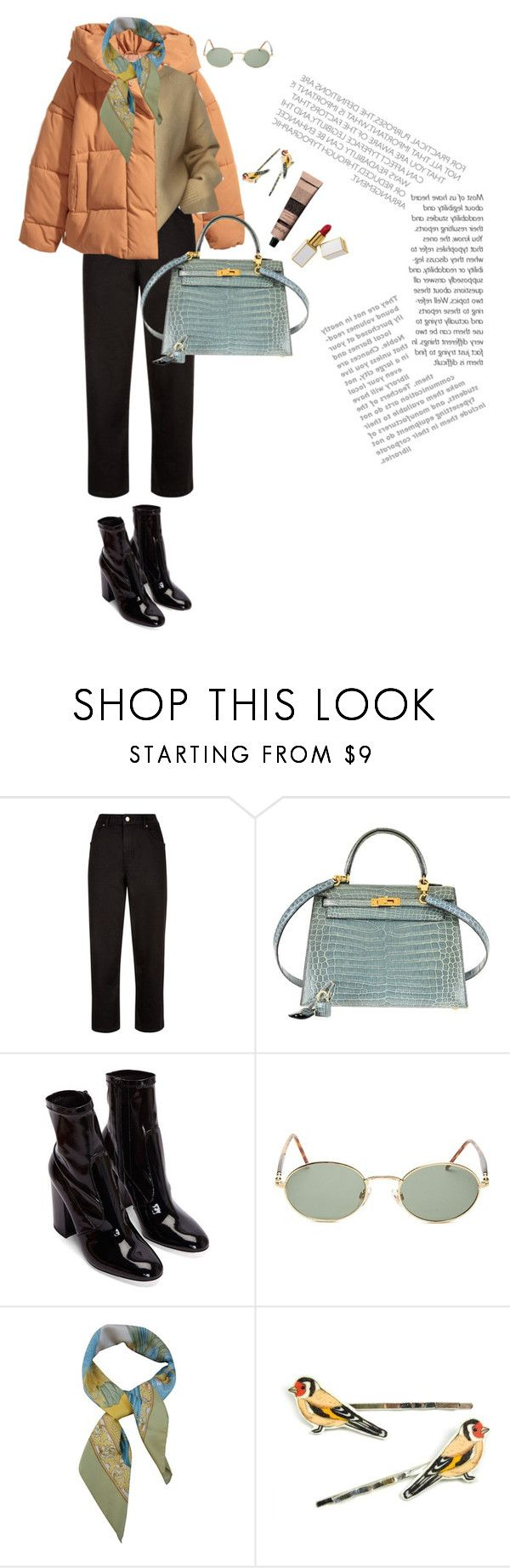 """""""Untitled #151"""" by palina-parker ❤ liked on Polyvore featuring Jaeger, Hermès, Forever 21, Salvatore Ferragamo, Layla Amber and Aesop"""