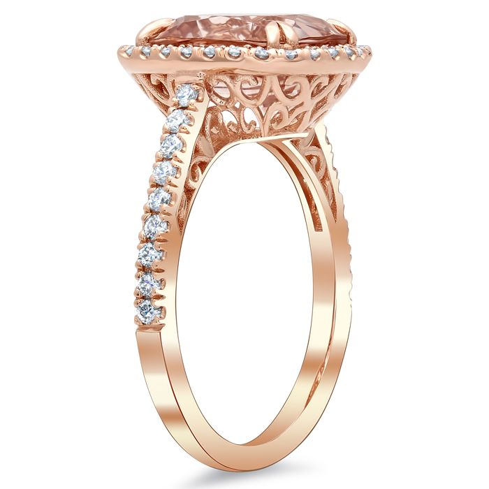 our cut in images basket gold rose french on adiamor engagement setting pinterest rings best