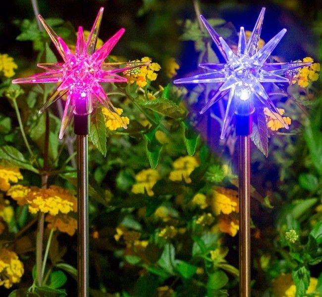 solar christmas decoration star stake light startling 7 colors gorgeous 7 color lights that - Christmas Stake Lights