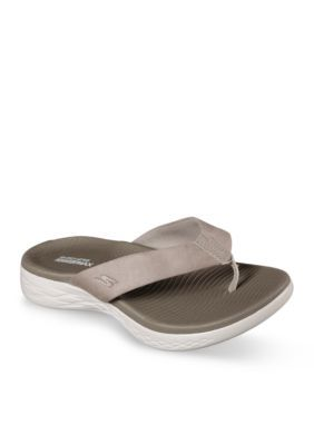 Skechers Women's On The Go 600 Polished Sandals - Taupe - 10M