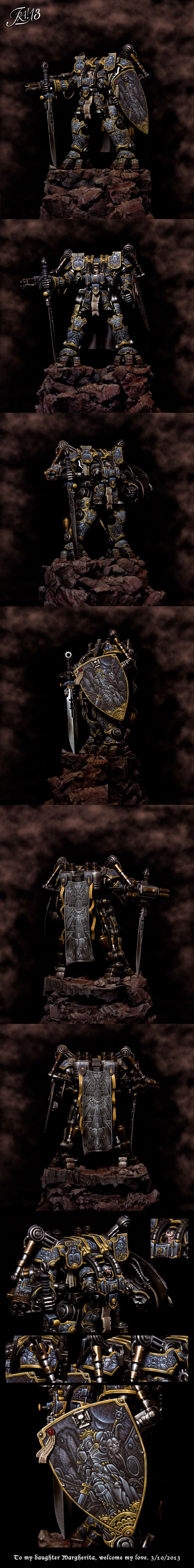 Grey Knights Dreadknight Detalle y color del terreno.