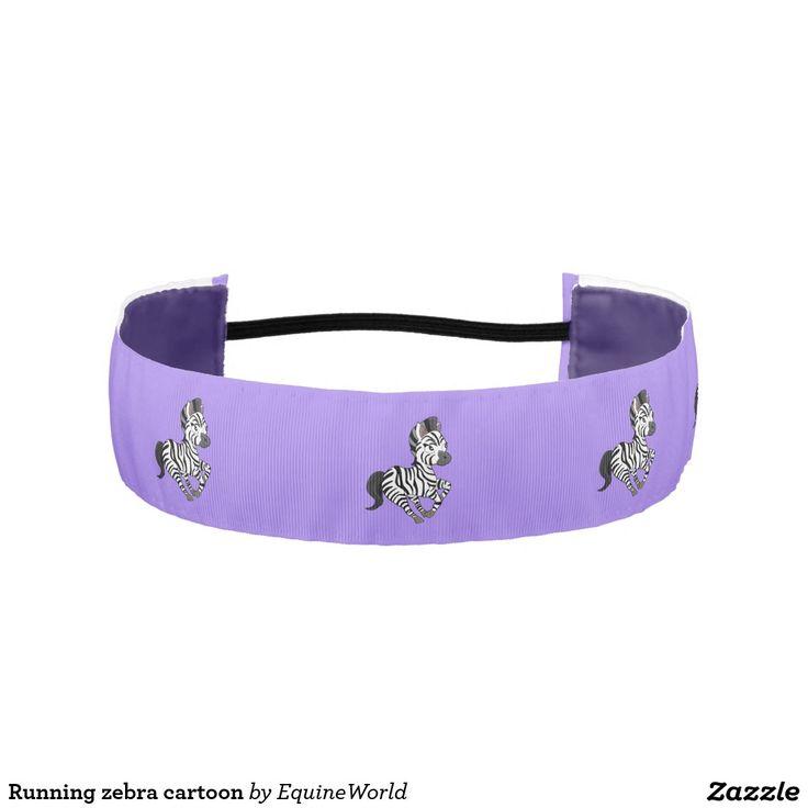 Running zebra cartoon athletic headbands