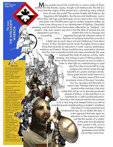 http://www.cmacdapo.com/Files/cmac_mississauga_newsletter_2012_vol3issue2_theintelligentwarriormonk.pdf