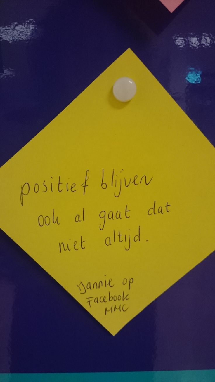 'Positief blijven ook al gaat dat niet altijd' - #inspiratiebord MMC