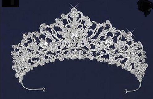 Stunning!  Ornate Crystal and Rhinestone Wedding or Quince Tiara - Affordable Elegance Bridal -