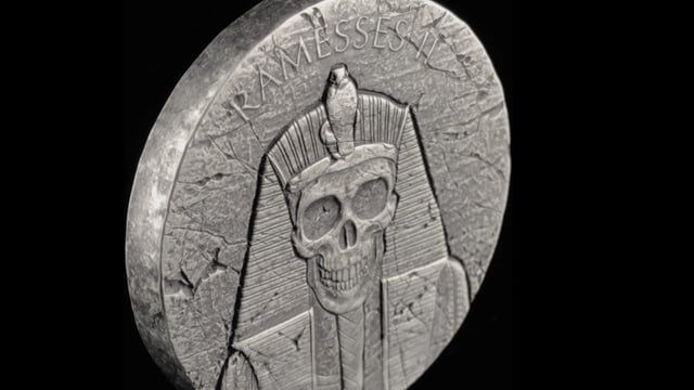 Arriving early 2018.  Scottsdale Mint is proud to announce the release of the 2 oz Republic of Chad Ramesses II Silver Coin BU AND the 2 oz Republic of Chad Ramesses II - After Life Silver Coin BU. The release of these two coins marks the final coin releases of the 2017 Egyptian Relic Series.