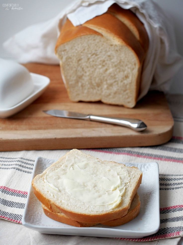Honey White Bread - Comfortably Domestic is luxuriously soft and fluffy—perfectly happy slathered with butter and served with a meal as it is as a canvas for building a really great sandwich.