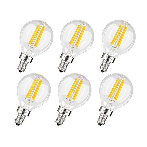 Albrillo E12 LED Candelabra Bulb 4W, 40 Watt Light Bulbs Equivalent, Warm White 2700K, 6 Pack #Albrillo #Candelabra #Bulb #Watt #Light #Bulbs #Equivalent, #Warm #White #Pack