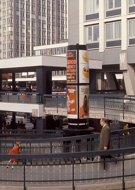 In the Whitgift Centre 1971 - 2. Incredible photo showing what the Whitgft Centre was still like when I worked in Sherratt and Hughes bookshop in the late eighties. I tell the story of the Whitgift Centre in my book Concretopia. http://amzn.to/17MNhXr