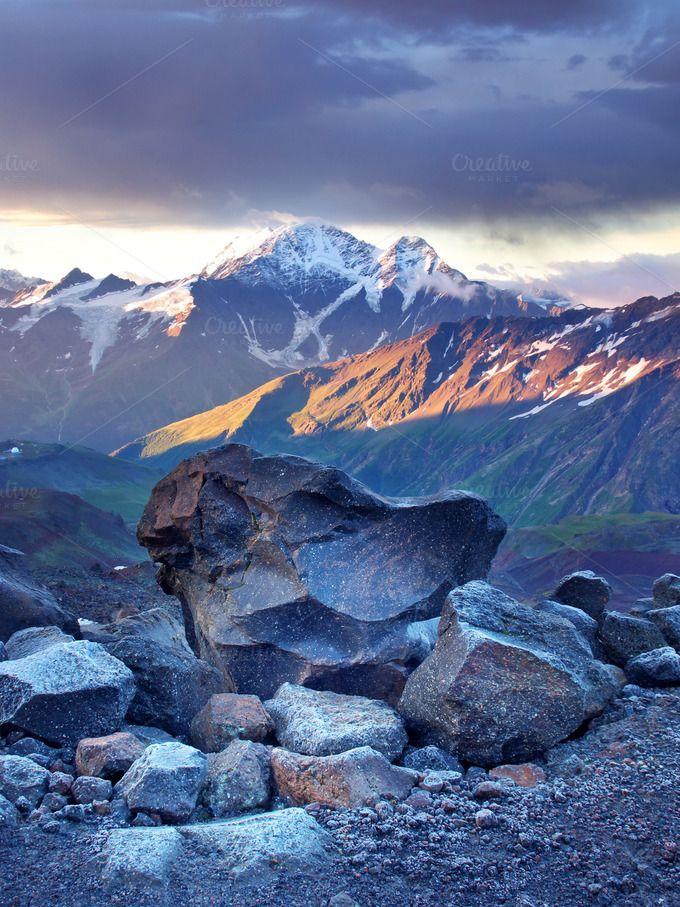 Mountain sunrise by biletskiy on @creativemarket