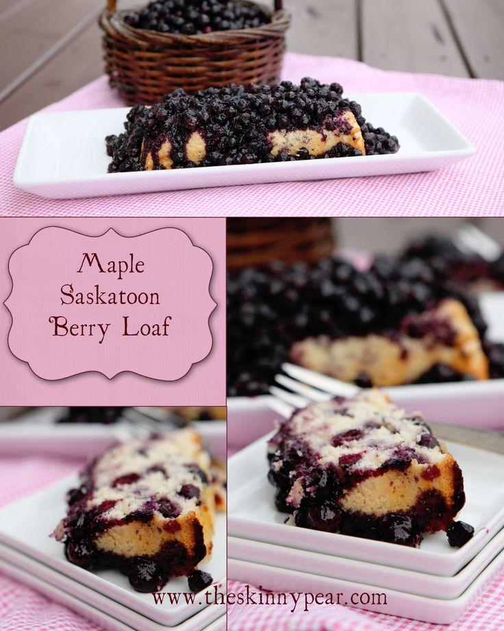 Maple Saskatoon Berry Loaf