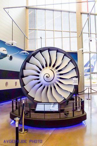 The Rolls Royce Trent 1000 high bypass turbofan engine that power the B787 Dreamliner.