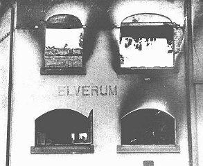 Elverum during the bombing in 1940