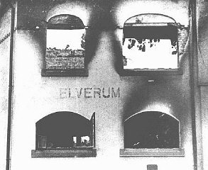 Elverum during the bombing in 1940