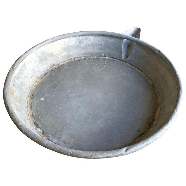 Large Zinc Pan, 19th Century