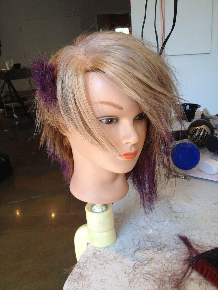 survivor tornade academy #blond #hair #purple #ombre #flashpoint