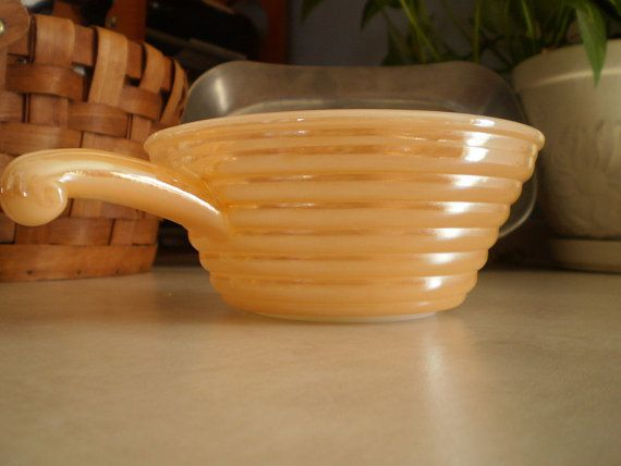 Vintage Fire King Oven Ware Vintage Peach Luster Fire