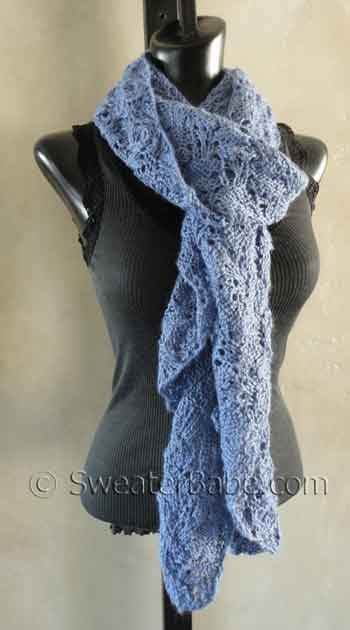 Lovely scarf to drape around your neck! #knitting: Dreamy Ruffles, Knitting Patterns, Scarfs Pdf, Knits Patterns, Alpacas Scarfs, Ruffles Alpacas, Pdf Knits, 129 Dreamy, Sweaterbabe Com Knits