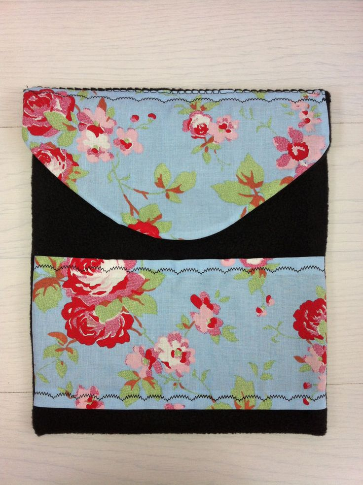 Cath Kidston  Blue Vintage Rose  iPad 4 Cover - Handmade - Fits up to 24 x 20cm.