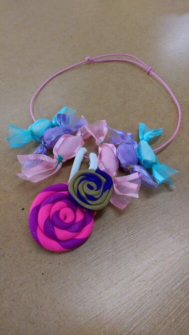 Polymer clay candy necklace