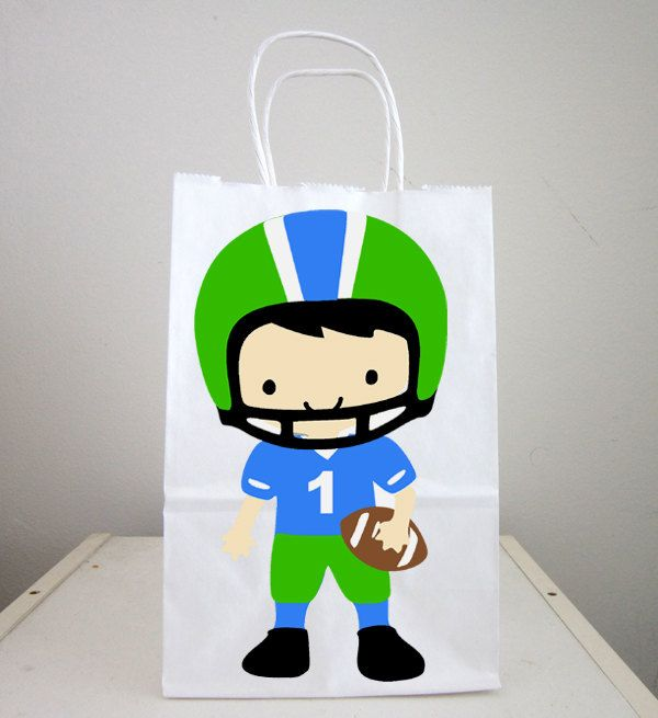 Football Goody Bags, Football Favor Bags, Football Player Favors, Football Gift Bags by CraftyCue on Etsy