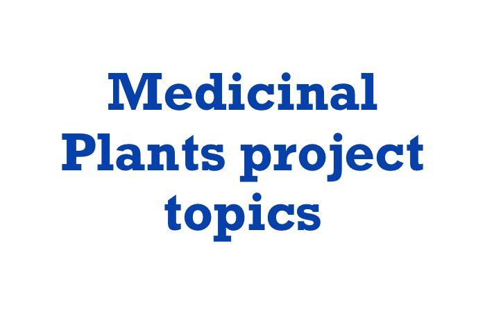 15 Research Paper Topics For Medicinal Plants Medicinal Plants Research Paper Medicine