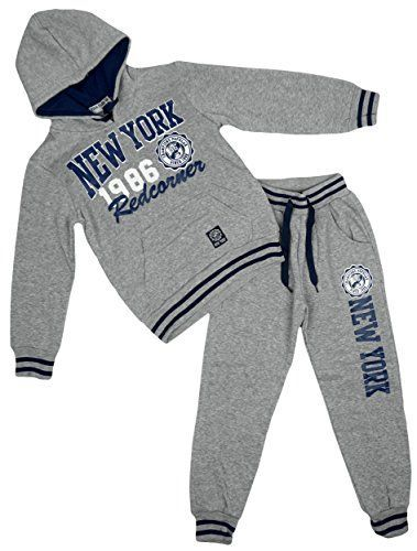 Yvon Fashion Boys New York Popular Champion 1986 Hooded Tracksuit Jog Set sizes from 6 to 16 Years Terrific Older Boys 2 Piece Tracksuit Set. Cracking Hooded Sweater andamp
