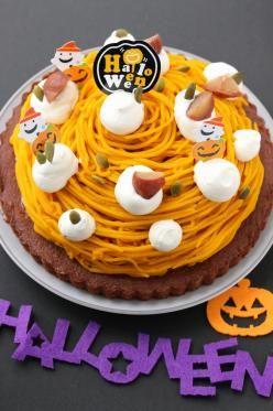 「ハロウィンに★かぼちゃのモンブランケーキ」marimo | お菓子・パンのレシピや作り方【corecle*コレクル】