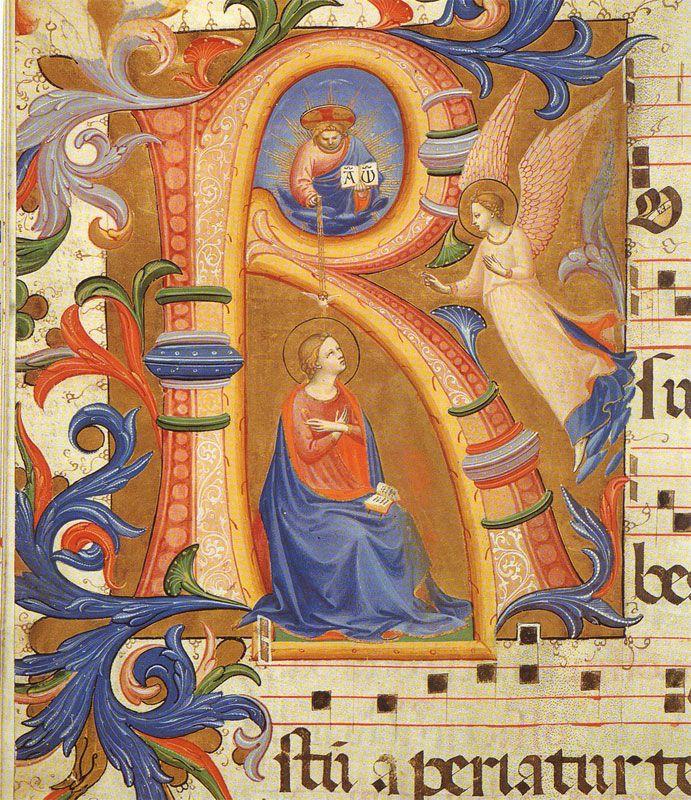 Fra Angelico Illuminated Manuscripts - Prayer book, Museo di San Marco, Florence